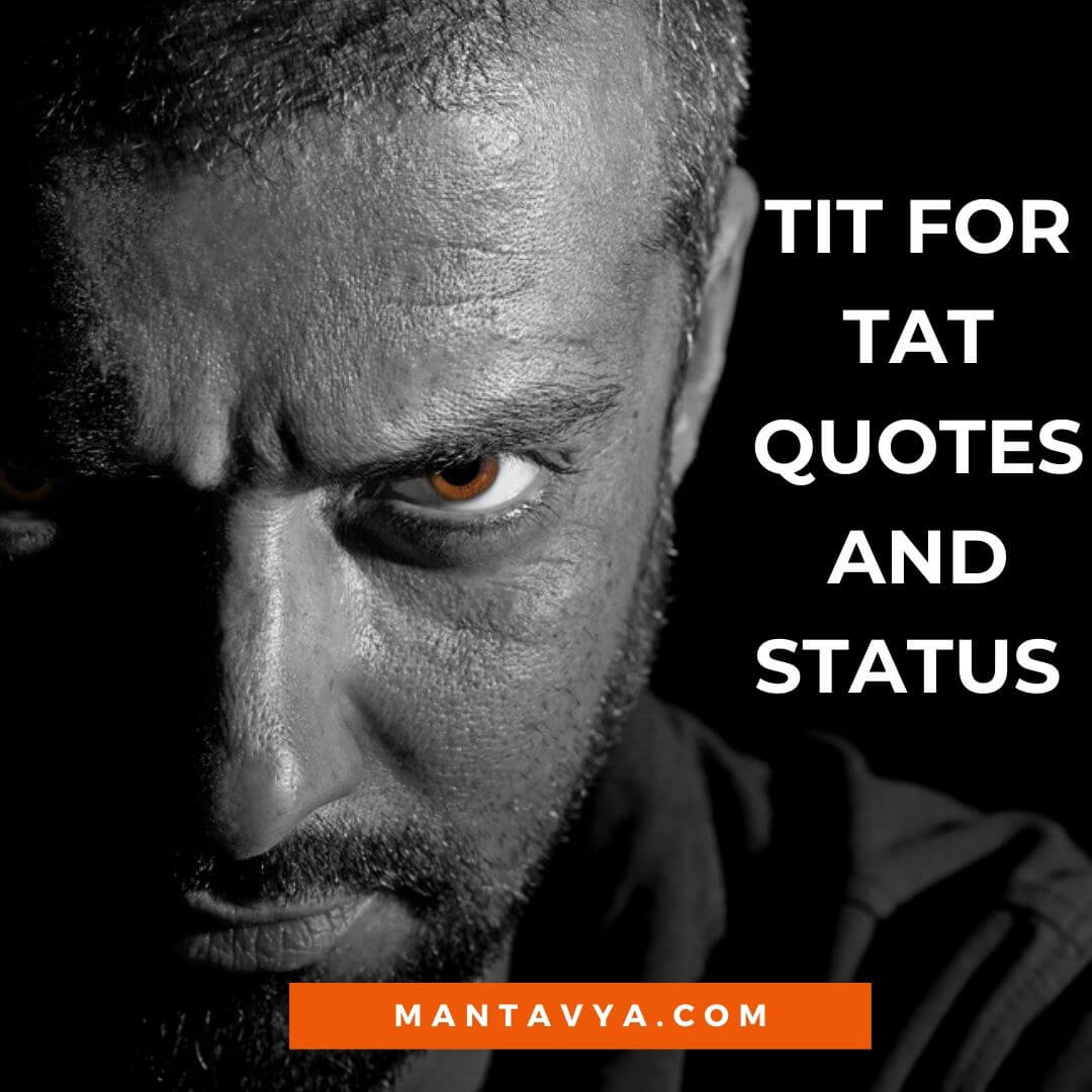 Tit for tat quotes and status