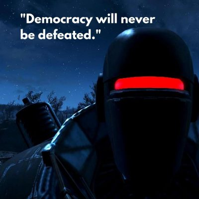 Democracy will never be defeated
