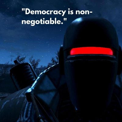 Democracy is non negotiable